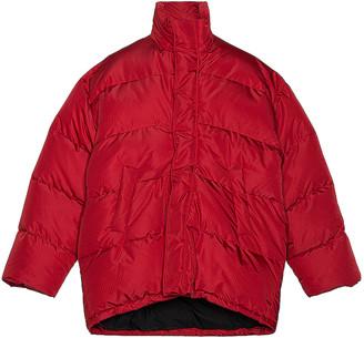 Balenciaga C Shape Puffer Jacket in Red | FWRD