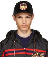 Gucci Green Velvet Crest Baseball Cap