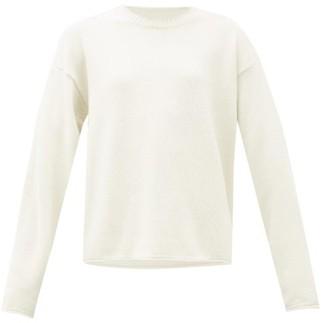Maison Margiela Raw-edge Cotton-blend Sweater - Womens - Cream