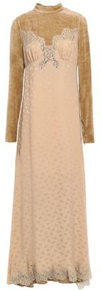 Stella McCartney Layered Jacquard And Velvet Maxi Dress