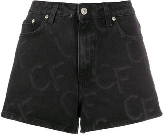 Chiara Ferragni Logo Print Denim Shorts