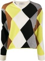 Pringle Argyle long-sleeve jumper