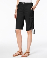 Style&Co. Style & Co Style & Co Petite Ruched-Hem Cargo Bermuda Shorts, Created for Macy's