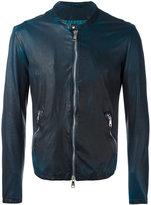 Giorgio Brato zipped jacket - men - Cotton/Leather/Nylon - 54