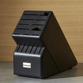 Crate & Barrel Wüsthof ® 17-Slot Black Knife Block