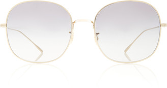 Oliver Peoples Mehrie Round-Frame Metal Sunglasses