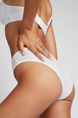 Negative Underwear Cotton French Cut Brief in White