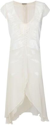 Giorgio Armani Pre Owned Beaded Ruffled Dress