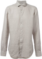 Glanshirt classic shirt - men - Linen/Flax - 43