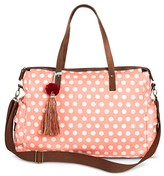 Mossimo Women's Polka Dot Weekender Handbag Pink