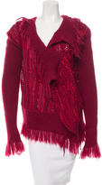 Christian Dior Fringe-Trimmed Knit Sweater w/ Tags