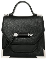 Mackage Rubie Leather Crossbody Bag In Black/Shiny
