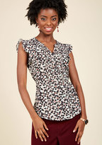 Expert in Your Zeal Floral Top in Posy in XXS