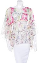 Elizabeth and James Silk Kimono Sleeve Top w/ Tags