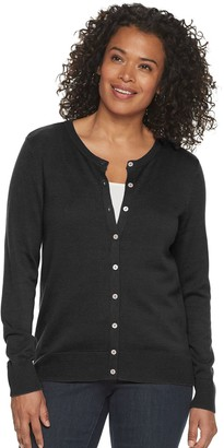 Croft & Barrow Women's Essential Button-Front Cardigan
