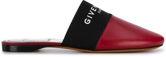 Givenchy Paris logo-band mules