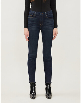 Good American Good Legs skinny high-rise stretch-denim jeans