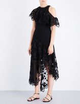 Zimmermann Mercer Bird Floating silk-georgette midi dress