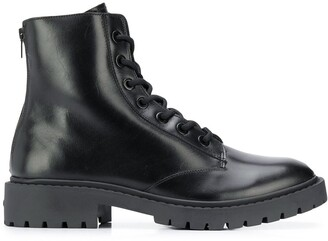 Kenzo Chunky Zip-Up Leather Boots
