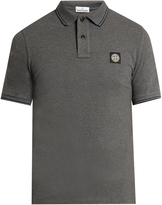 Stone Island Short-sleeved stretch-cotton polo shirt