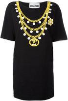Moschino chain print T-shirt dress