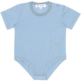 Loro Piana Kids Baby Light Rib 20 stretch-cotton onesie