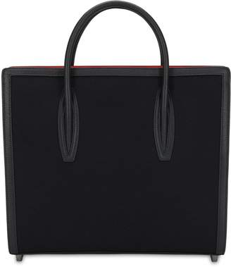 Christian Louboutin PALOMA LARGE CANVAS TOP HANDLE BAG