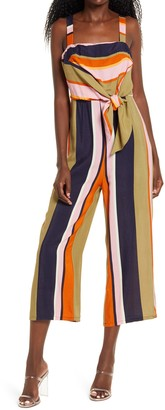 4SI3NNA the Label Shane Tie Front Crop Jumpsuit