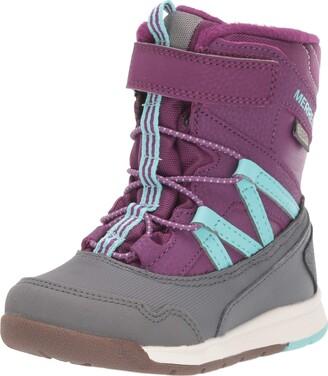 Merrell Snow Crush Waterproof Jr. Boot Little Kid 5 Purple/Turquoise