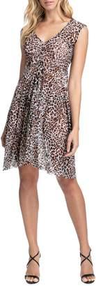 Gottex Wild Thing Leopard-Print Mesh Dress