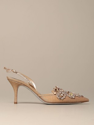 Rene Caovilla Pumps Venetian Slingback With Crystals And Stones