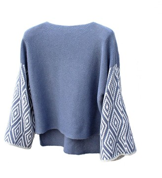 Katie Victoria Cornflower Cotton Jumper