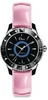 Christian Dior VIII Limited-Edition Sapphire, Black Ceramic & Leather Automatic Watch