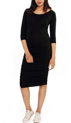 Angel Maternity Side Ruched Maternity Body-Con Dress