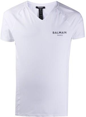 Balmain logo-print lounge T-shirt
