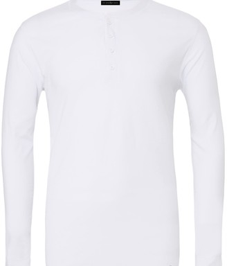 Ocean Rebel Henley Long Sleeve Tee White