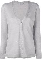 Brunello Cucinelli v-neck cardigan - women - Silk/Linen/Flax/Polyamide - XL