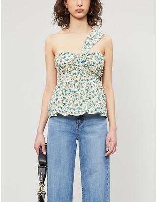 Zadig & Voltaire Coto floral-print cotton-poplin top
