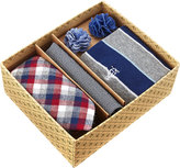 Original Penguin Five-Piece Sock and Tie Box Set, Multi/Red Plaid