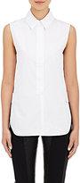 Paco Rabanne Women's Button-Tab Cotton Poplin Sleeveless Shirt-WHITE