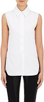 Paco Rabanne Women's Button-Tab Cotton Poplin Sleeveless Shirt