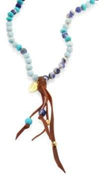 Chan Luu Mix Beaded Tassel Necklace