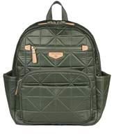 Infant Girl's Twelvelittle 'Companion Backpack' Quilted Nylon Diaper Bag - Green