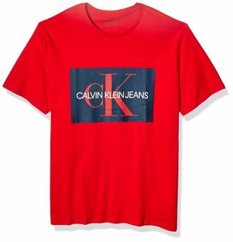 Calvin Klein Men's Big and Tall Short Sleeve Monogram Logo T-Shirt