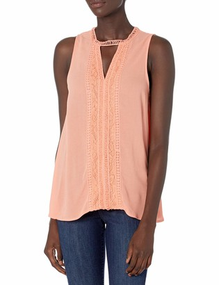 Taylor & Sage Women's Lace Trim Gigi Sleeveless Top
