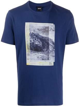 HUGO BOSS Collection-print cotton T-shirt