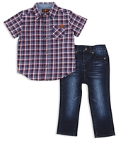 7 For All Mankind Boys' Plaid Shirt & Jeans Set - Little Kid