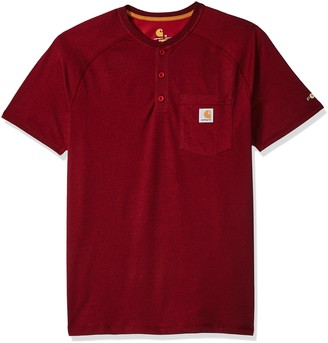 Carhartt Men's B&T Force Cotton Delmont Short Sleeve Henley Relaxed Fit