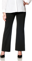 Motherhood Petite Secret Fit Belly Bi-stretch Suiting Flare Leg Maternity Pants