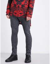 Balmain Contrast-waist Wool Jogging Bottoms